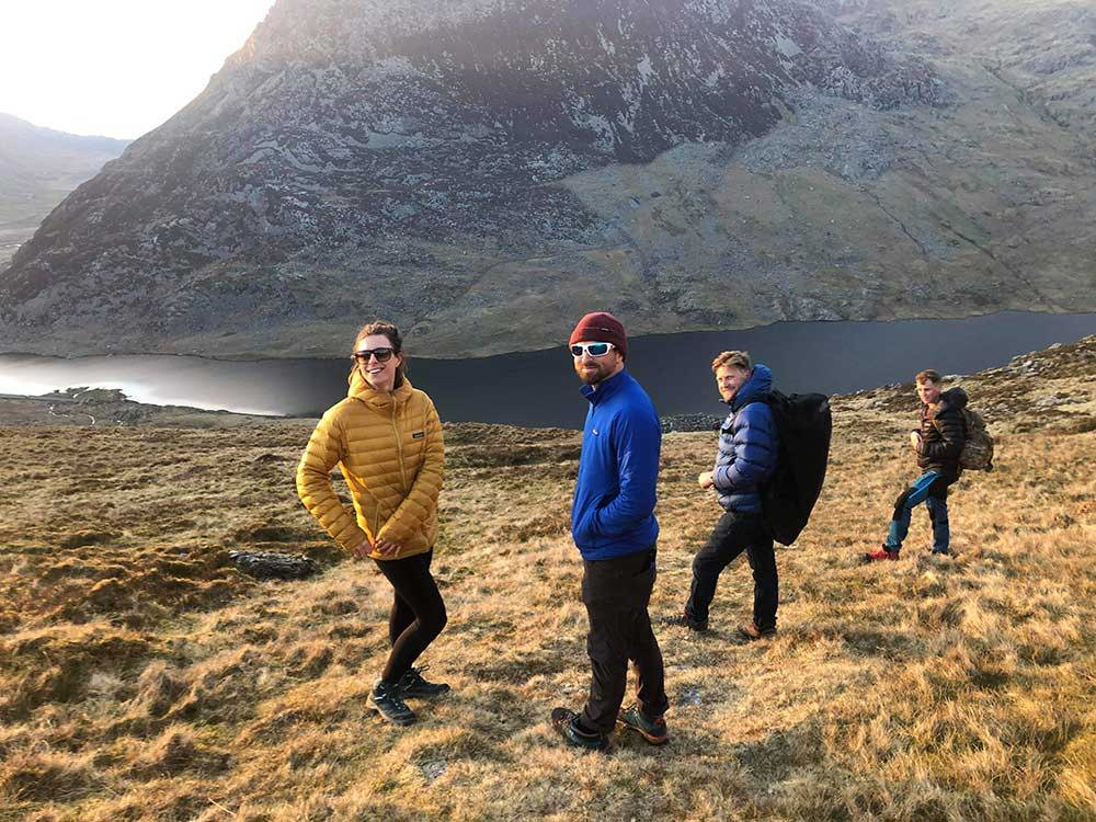 Hiking back to the car after a day spent at Llyn Bochlwyd in Snowdonia