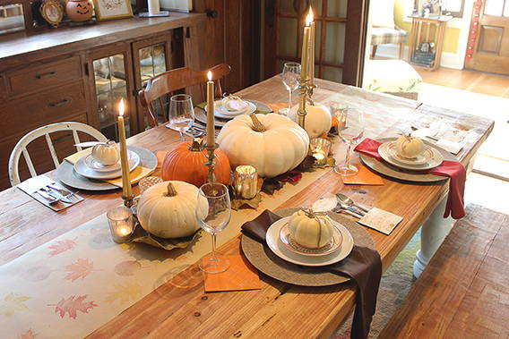 A Thanksgiving Tablescape With Stamps