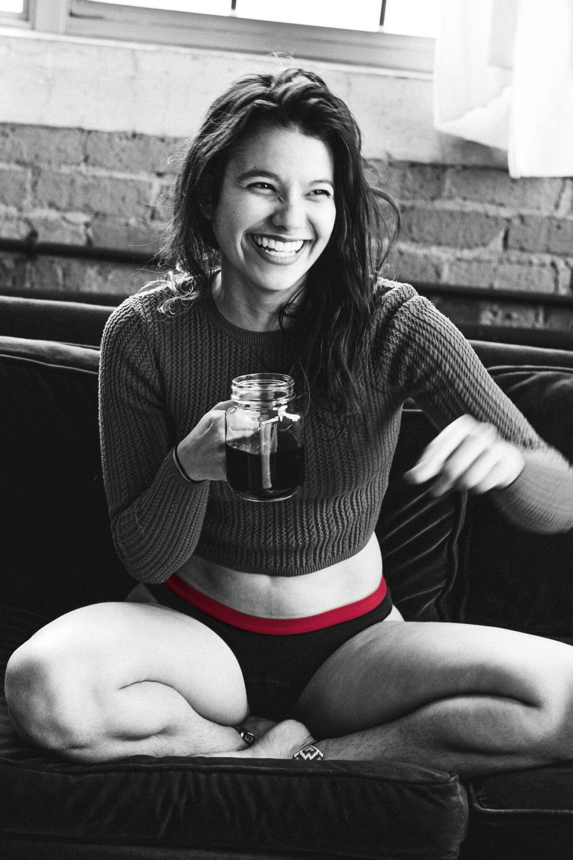 femme café culotte menstruelle