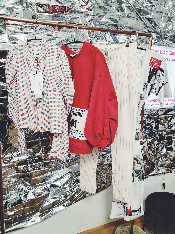 Fanfare LDC Edit Blouse Jumper and Skinny Stripe Trouser