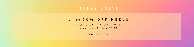 Up to 70% Off Heels