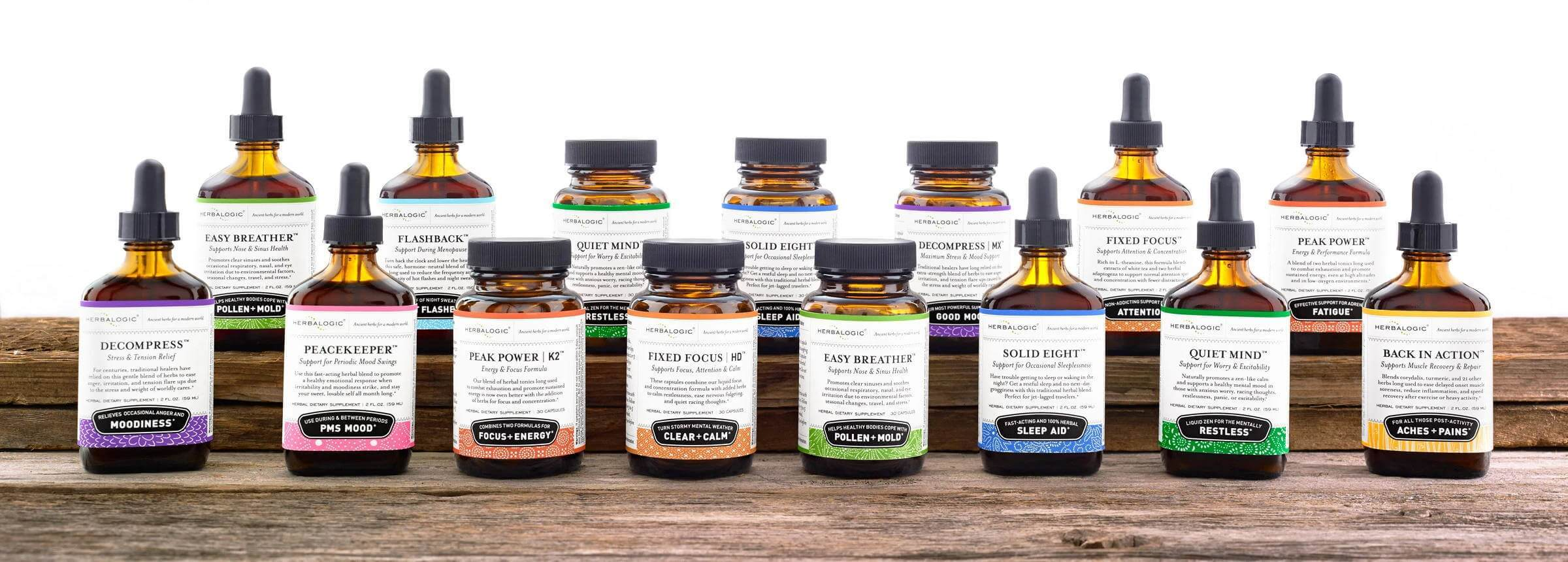 Full Collection of Herbalogic Herbal Drops and Capsules