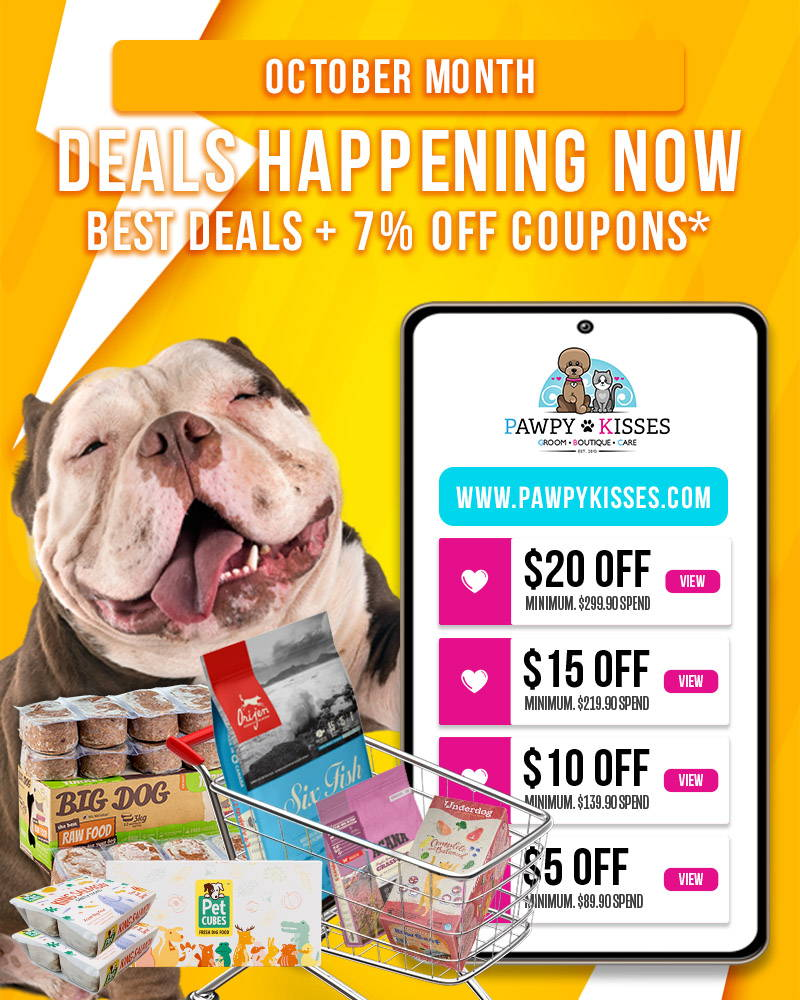 Deals happening now at our online pet shop and with additional discount coupons to use at checkout!