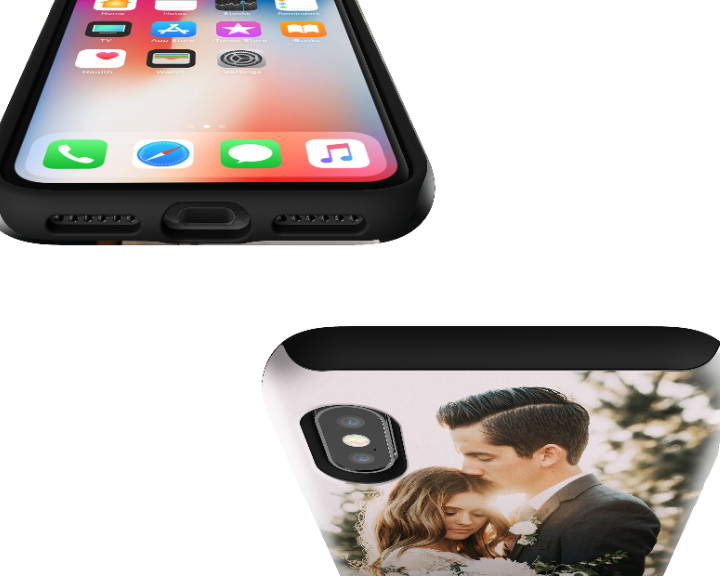 iPhone X Extra Protective Case Top Angle
