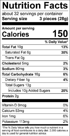 Malted Milk Ball Truffles Nutrition Facts