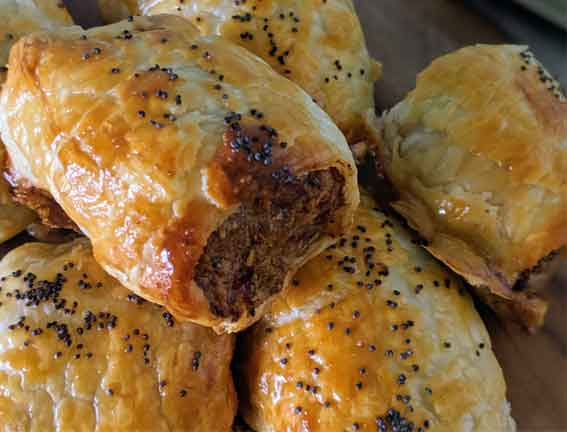 Beef and Bacon Sausage Rolls