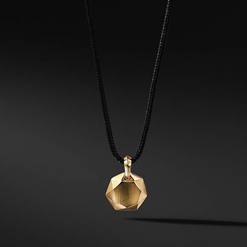 David Yurman Fortune Pendant in Black and 18K Gold