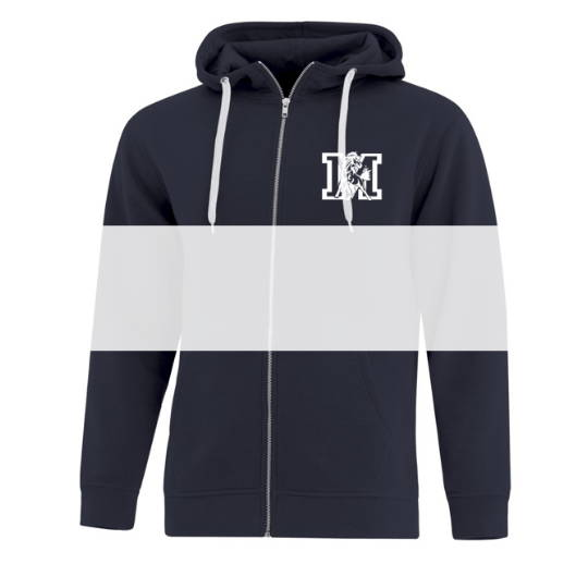 Custom screen printed or embroidered full zip hoodies from Sanmar Canada The Authentic T-Shirt Company (ATC)