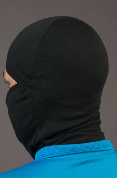 merino wool balaclava model back