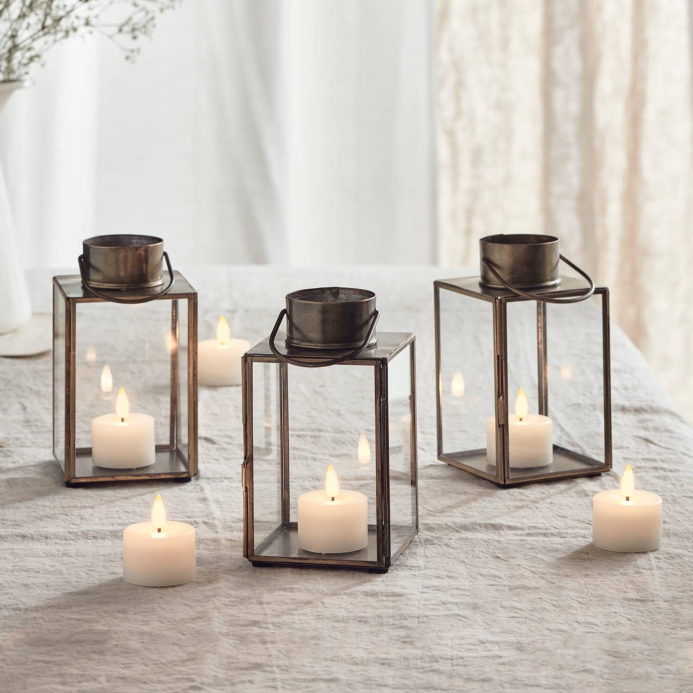 Gota Artisan TruGlow® Candle Lantern Trio