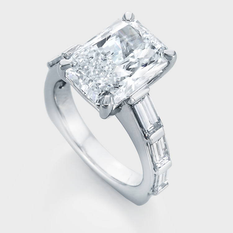 Image of custom designed engagement ring