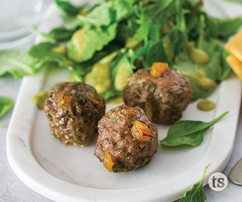 Spinach & Apricot Breakfast Meatballs