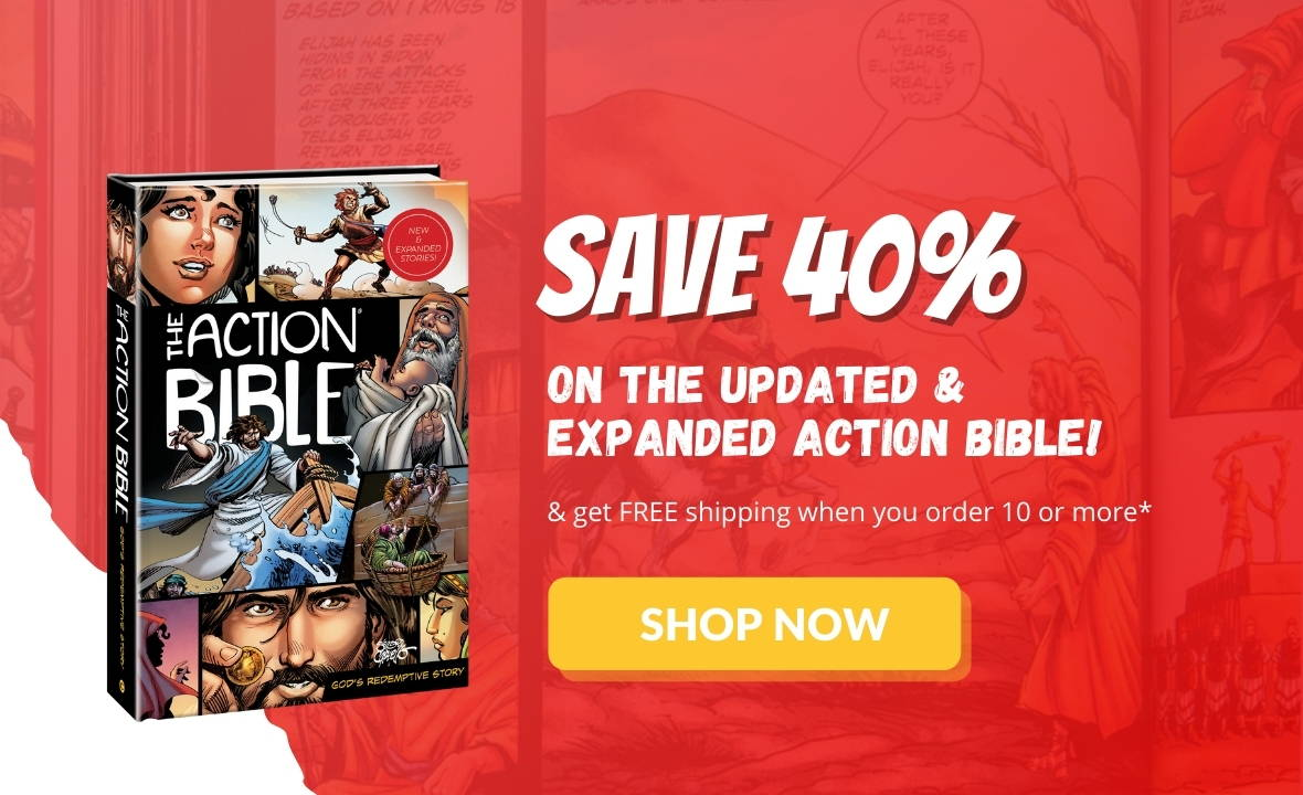 Save 40% on the new and expanded action bible