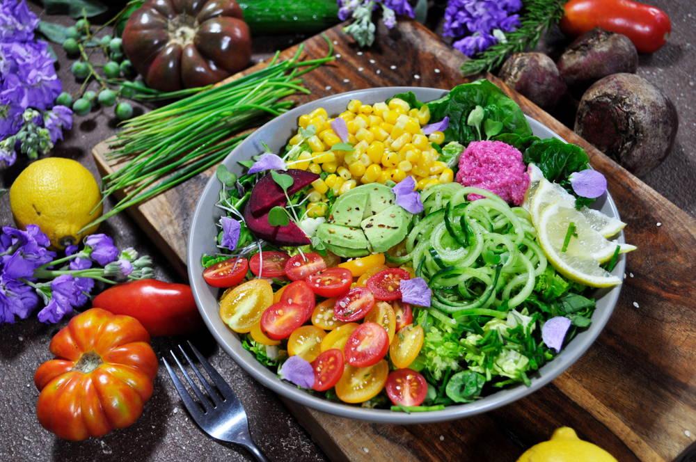 rainbow salad bowl: eat plants