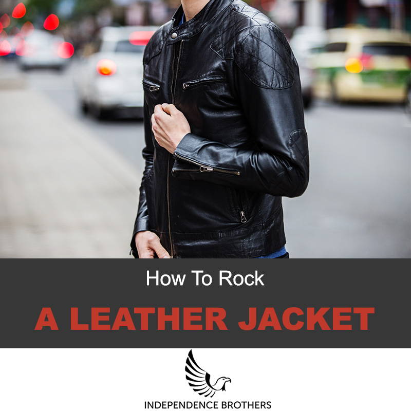 How to rock a leather jacket