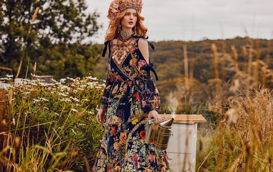 CAMILLA hampton hive dress, camilla black floral dress