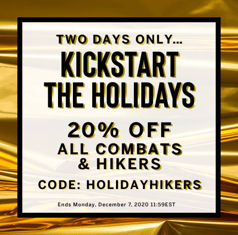 20% Off All Combats & Hikers