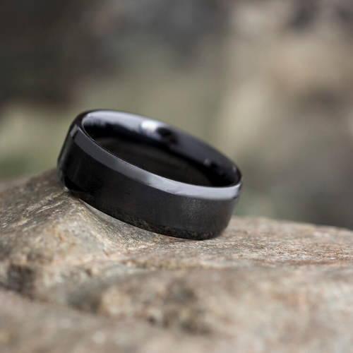 Black Gold Wedding Rings