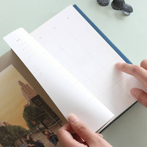 120gsm paper - Wanna This Omnibus dateless weekly diary planner