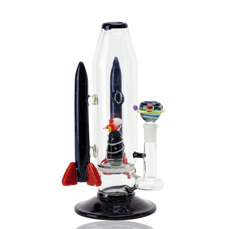 Rocket Ship Water Pipe American Glass