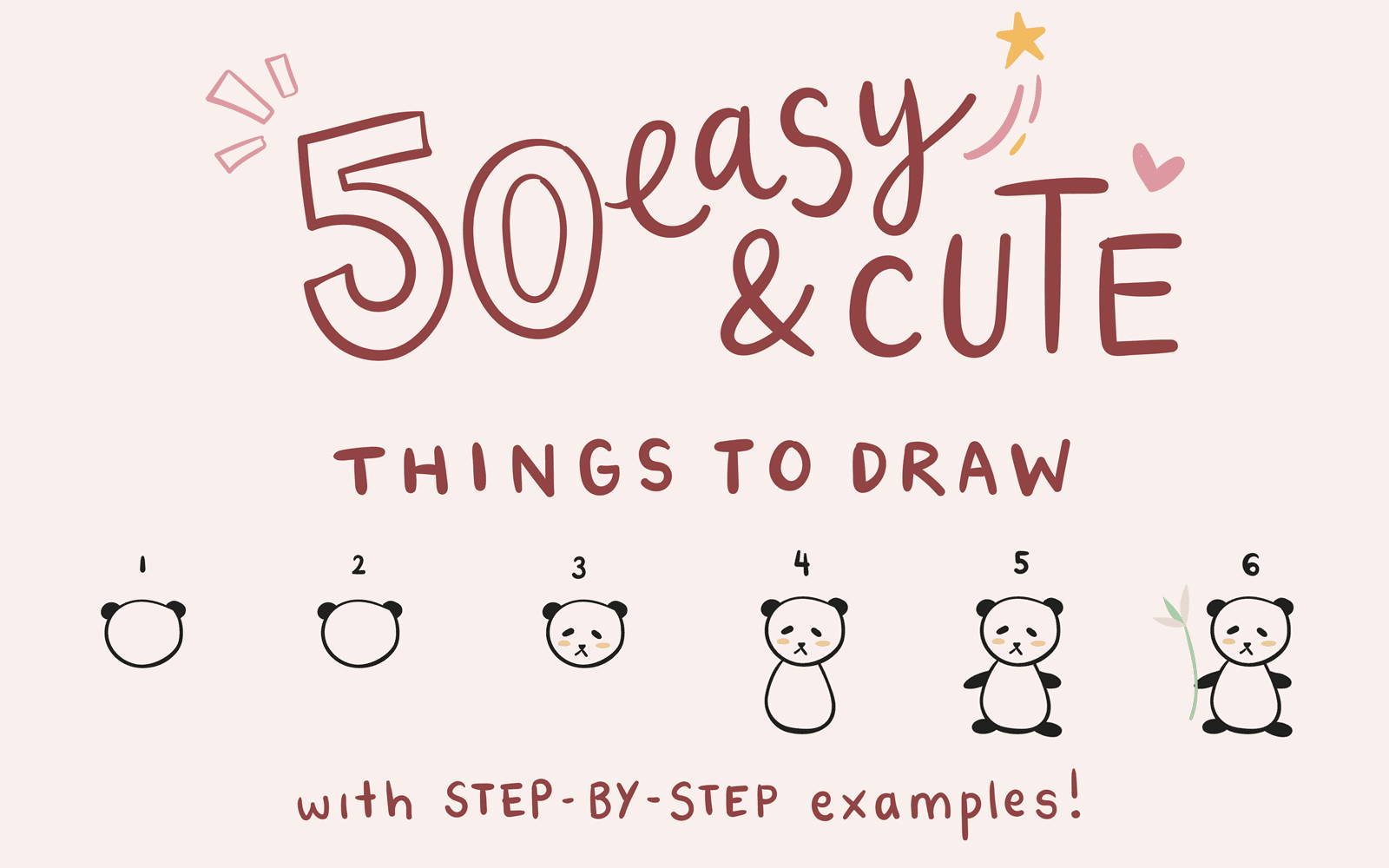 50 Easy Cute Things To Draw With Step By Step Examples Notebooktherapy