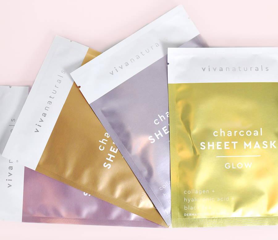 close up of Charcoal Sheet Masks