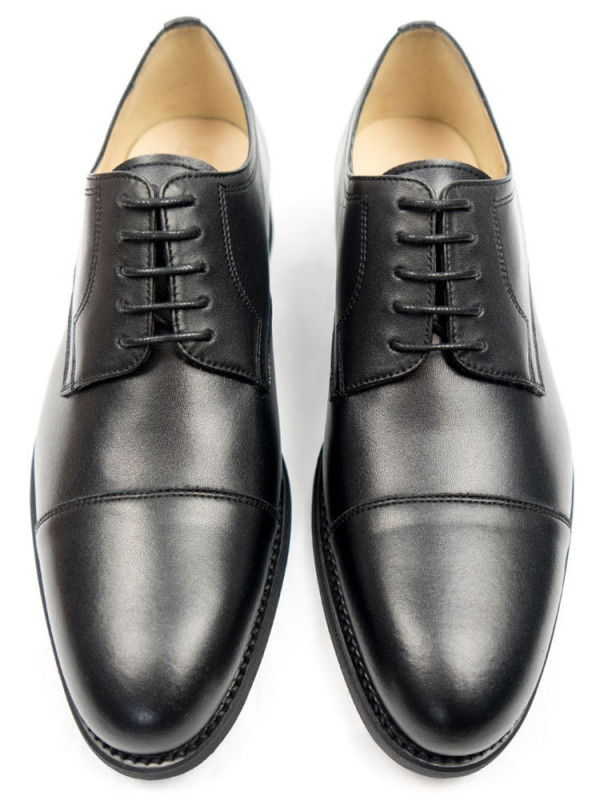 Black Collection Black Vegan Leather Derbys - Will's London | Ecoture