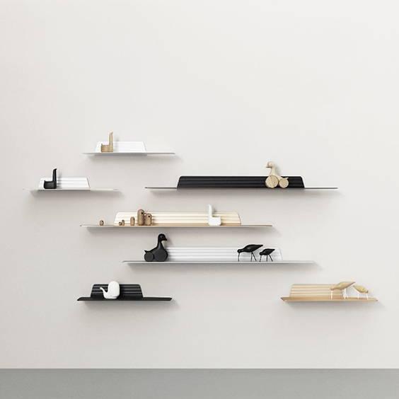 Tiny Bedside Table - narrow shelf