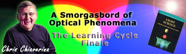 A Smorgasbord of Optical Phenomena The Learning Cycle Finale by Chris Chiaverina