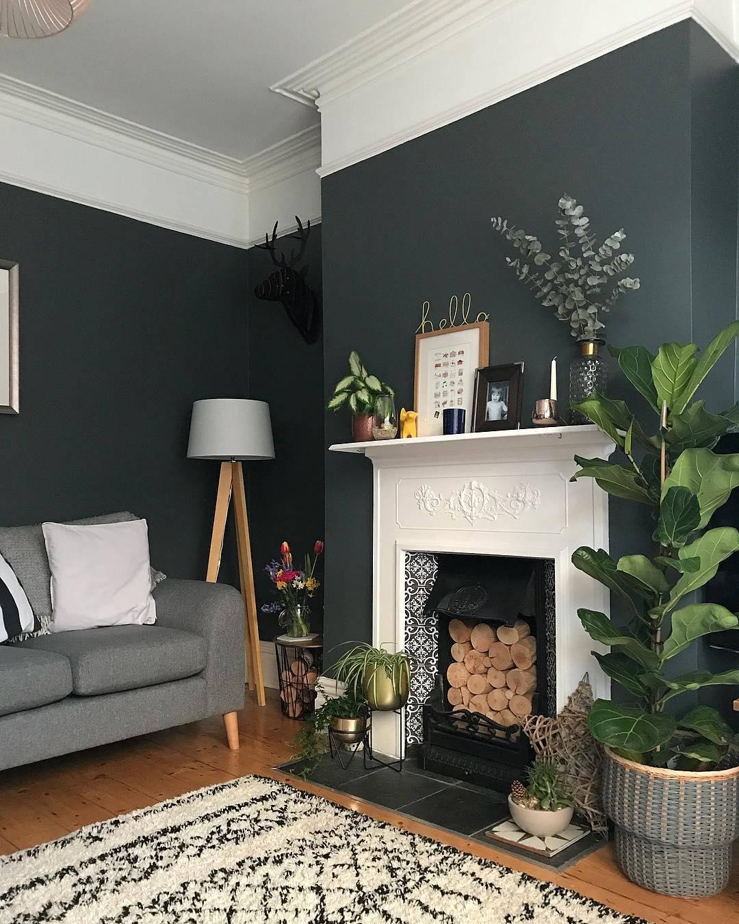 stylish fireplace decor