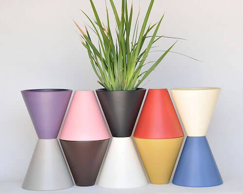 Colorful Indoor Planters
