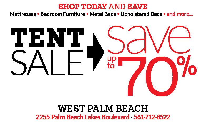 West Palm Beach Tent Sale City Mattress