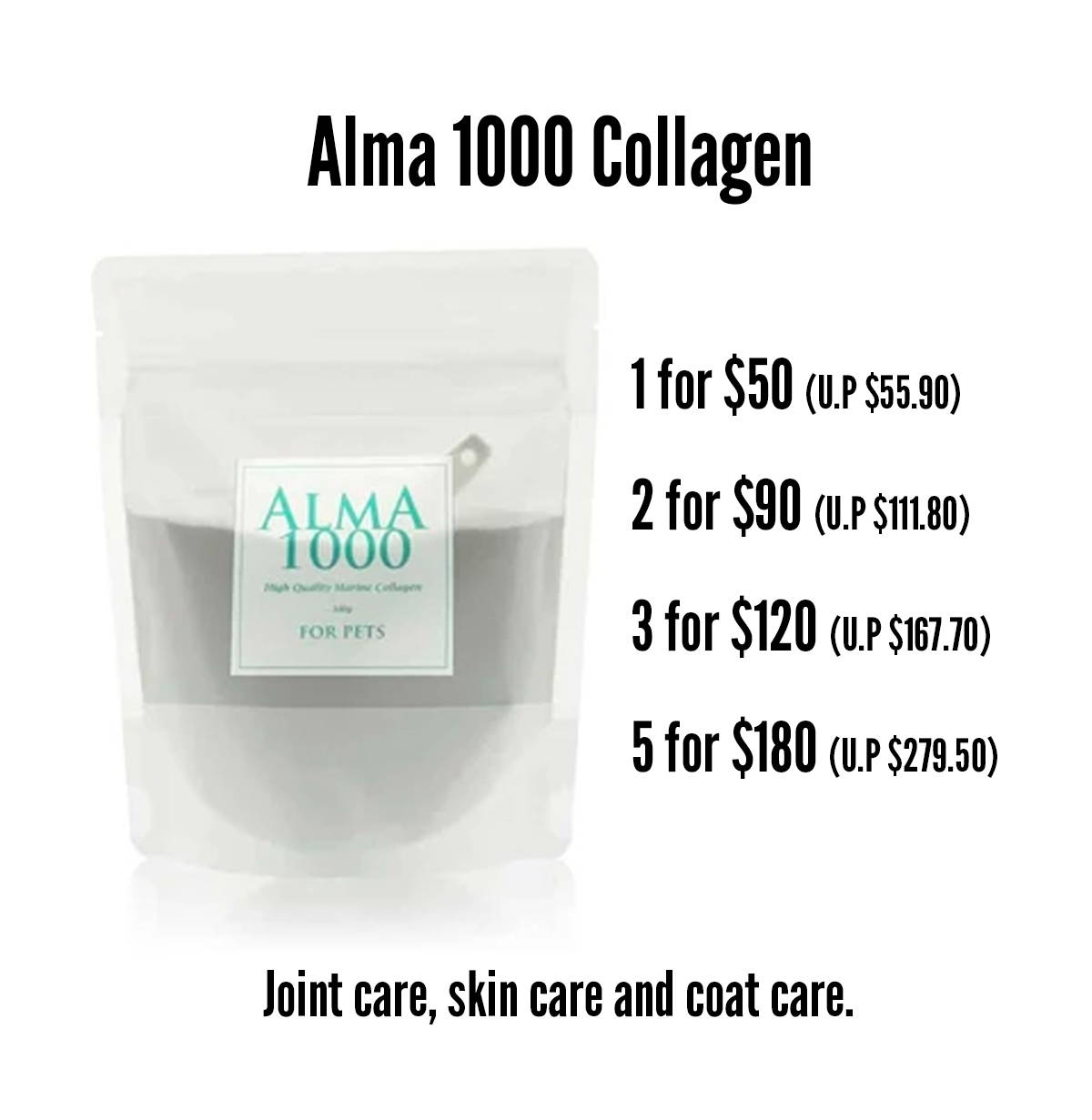 pawpy kisses black friday alma 1000 collagen promotion