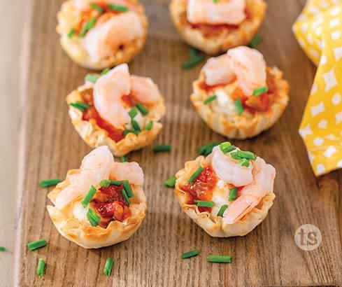 mango shrimp bites