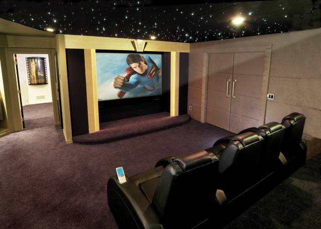 Discount starscape ceiling tiles for home entertainment rooms