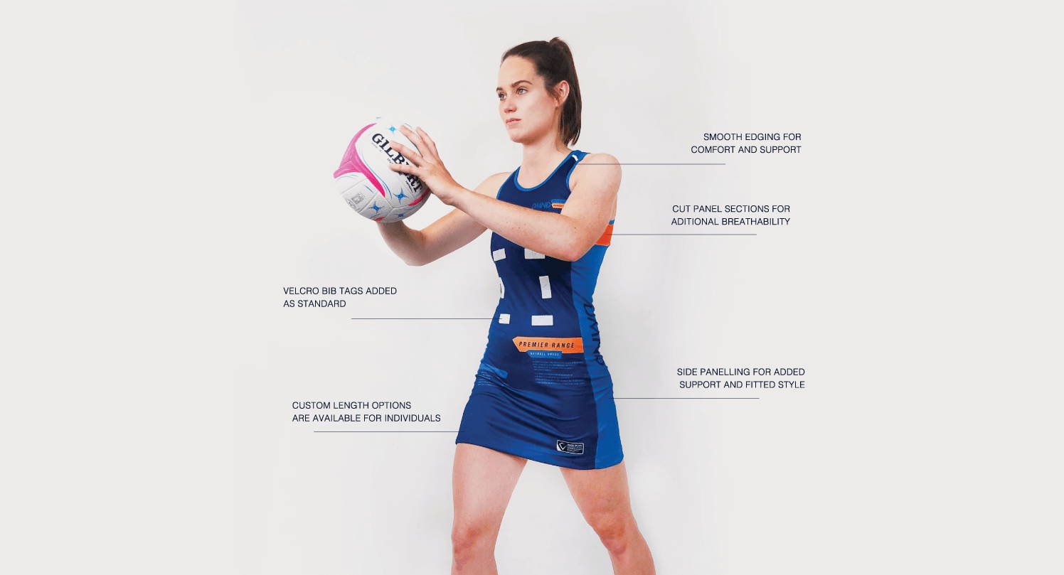 DMND uses the latest in printing techniques and an Australian design team, your clubs Netball Dress will be created as you envisioned it.