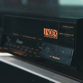 VHS tape player