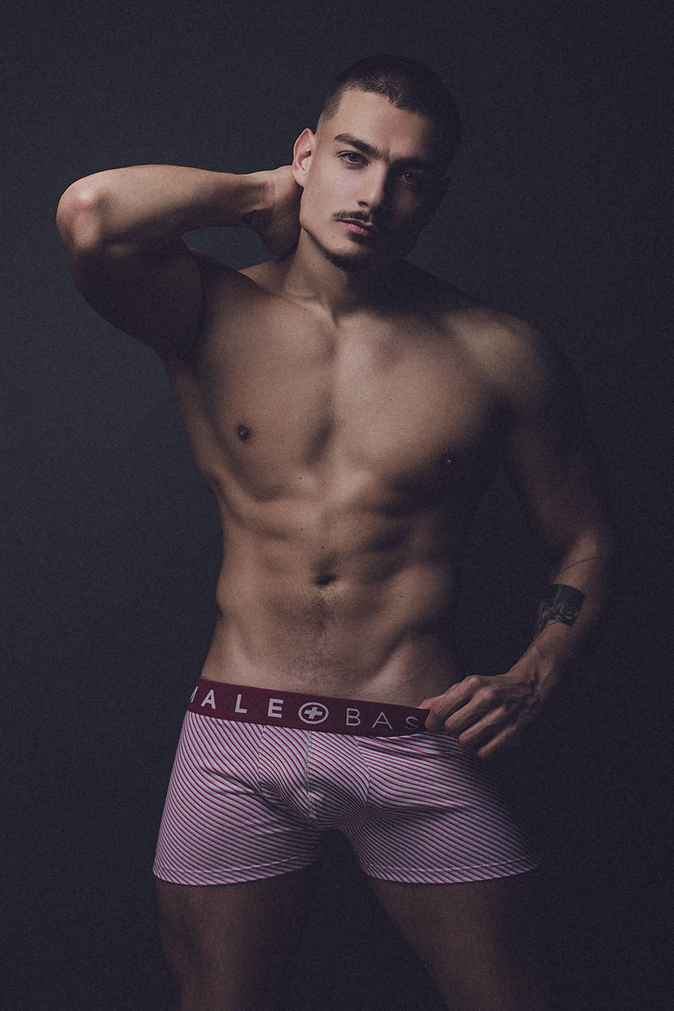 It's About The Man - Model | Carlos Exposito Photographed by Adrian C. Martin wearing Male Basics Boxer Shorts and Briefs | Men in underwear, Model in Underwear, Male Basics Underwear, Shirtless Male