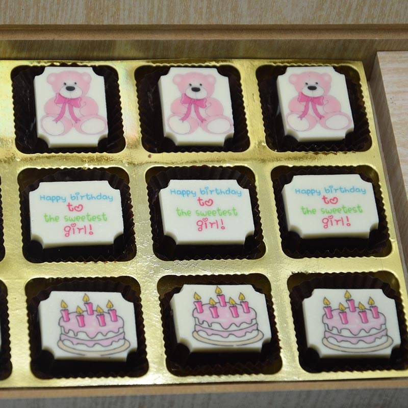 Teddy and Cake theme return gift for girls in Pink