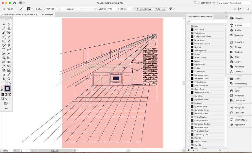 Create guides in Adobe Illustrator
