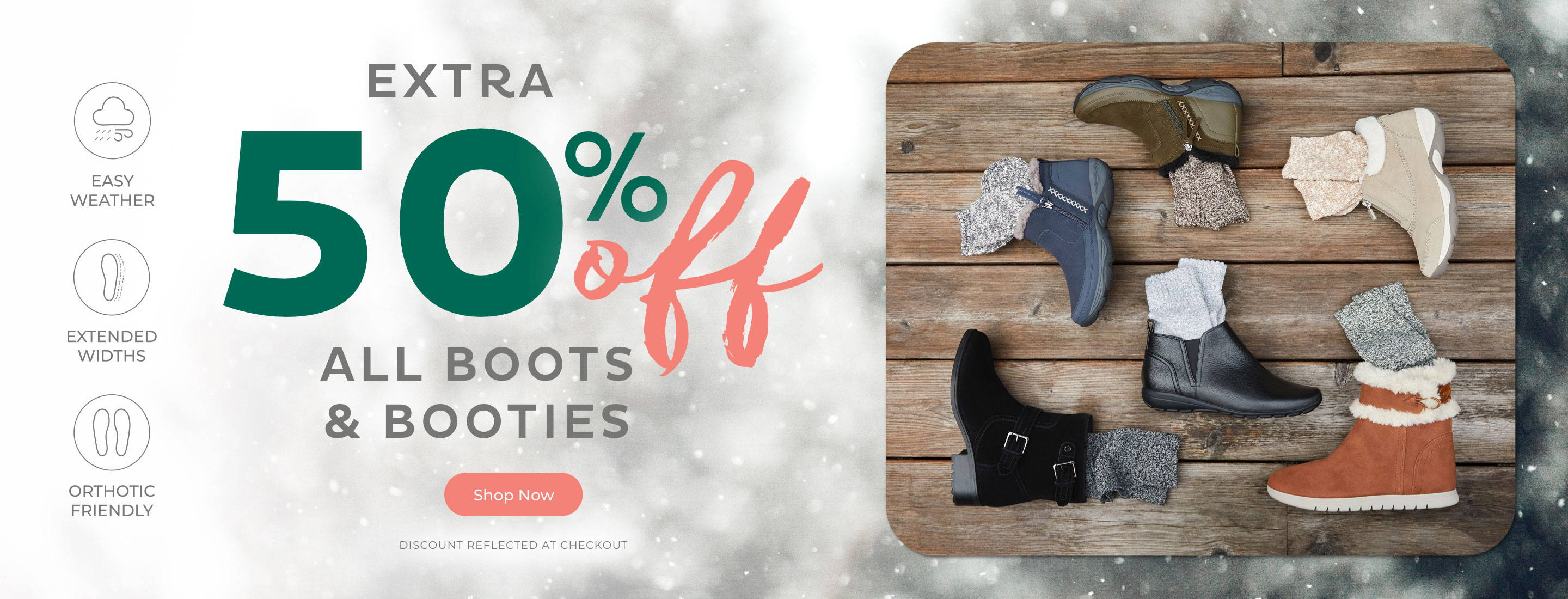 Extra 50% Off All Boots & Booties