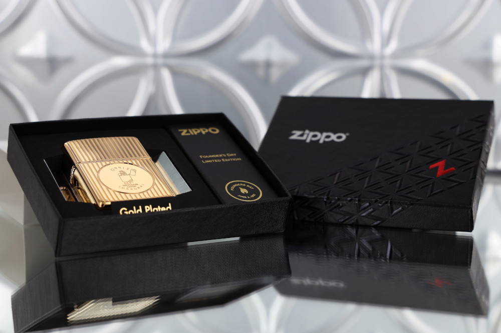 Founder's Day 2021 Gold-Plated Edition Collectible in its luxury box packaging.