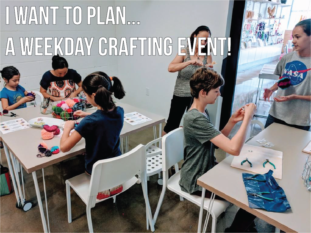 Private Craft Event for All Ages at Craft Habit in Raleigh NC