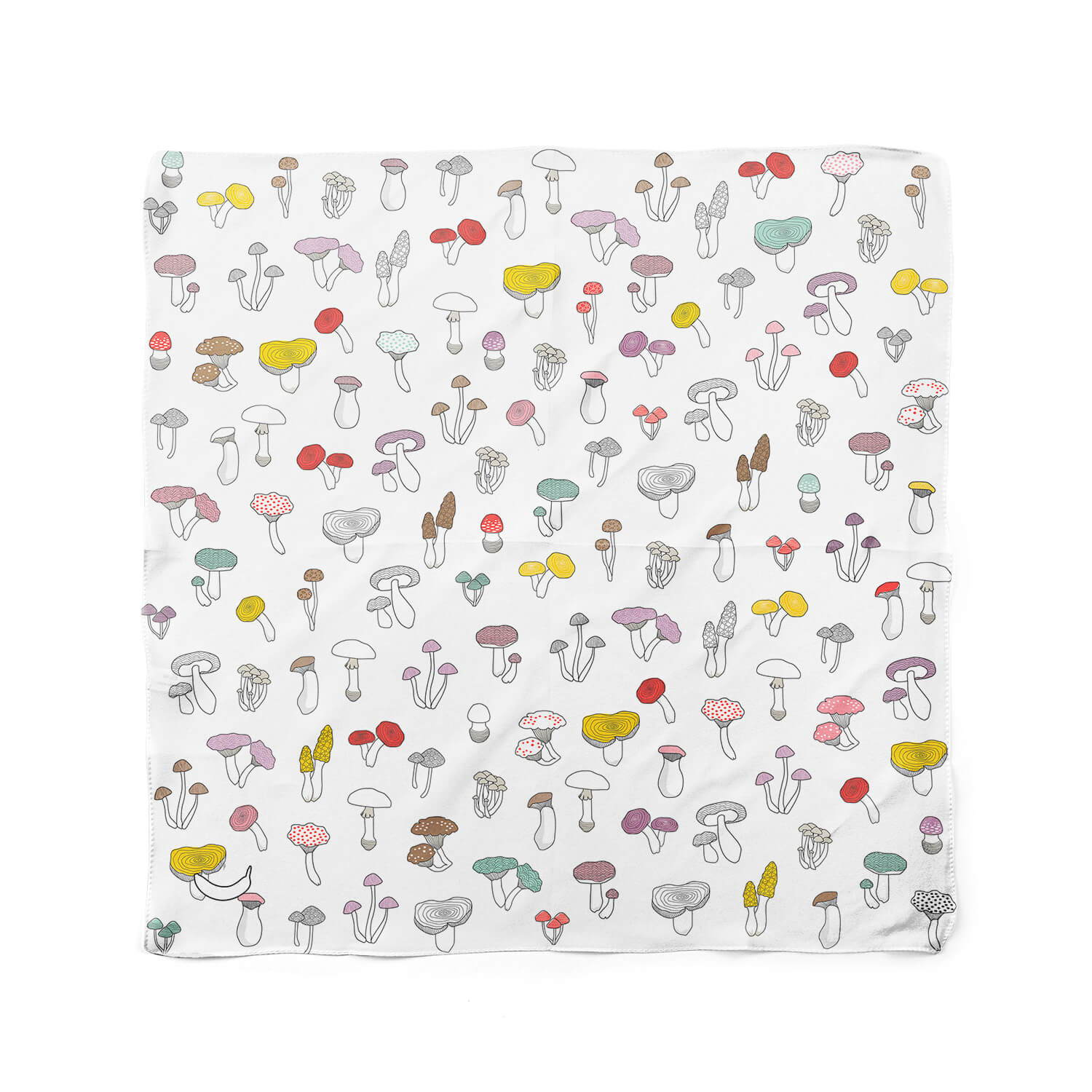 Banana Bandanas Forehead Forager dog bandana mushroom illustration dog bandana