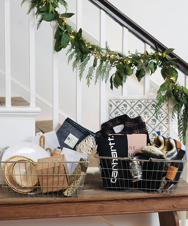 Harriett's two baskets of gift choices