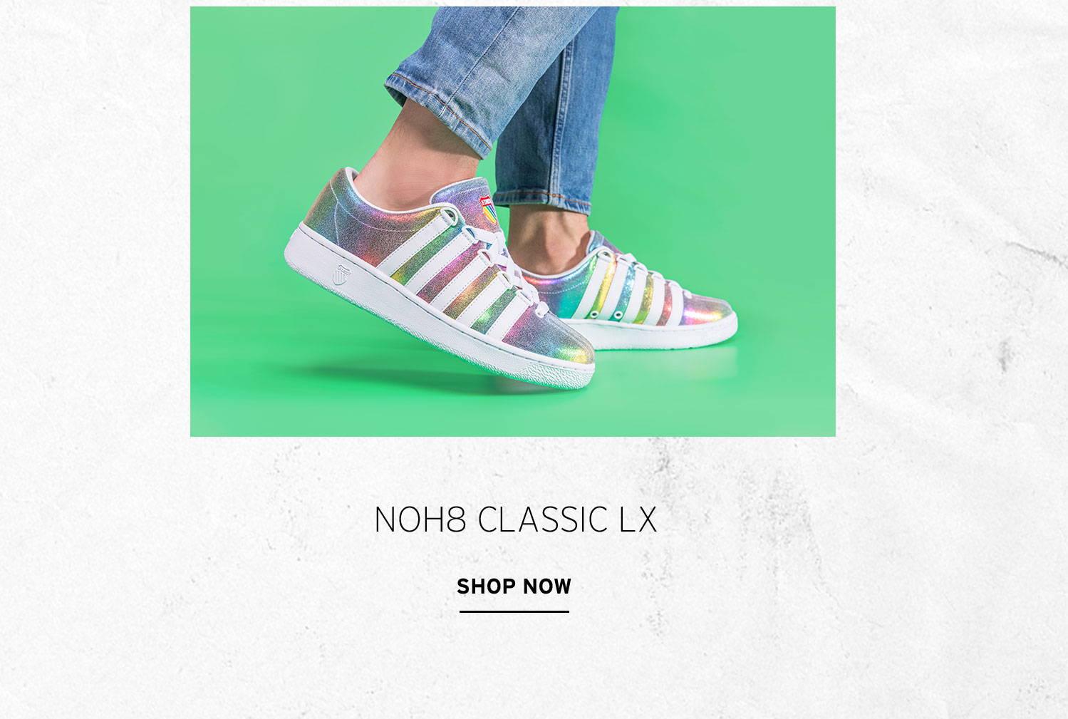 NOH8 X K-Swiss Classic LX Product Shots