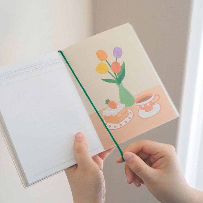 Bookmark - Rihoon Re green dateless daily diary journal