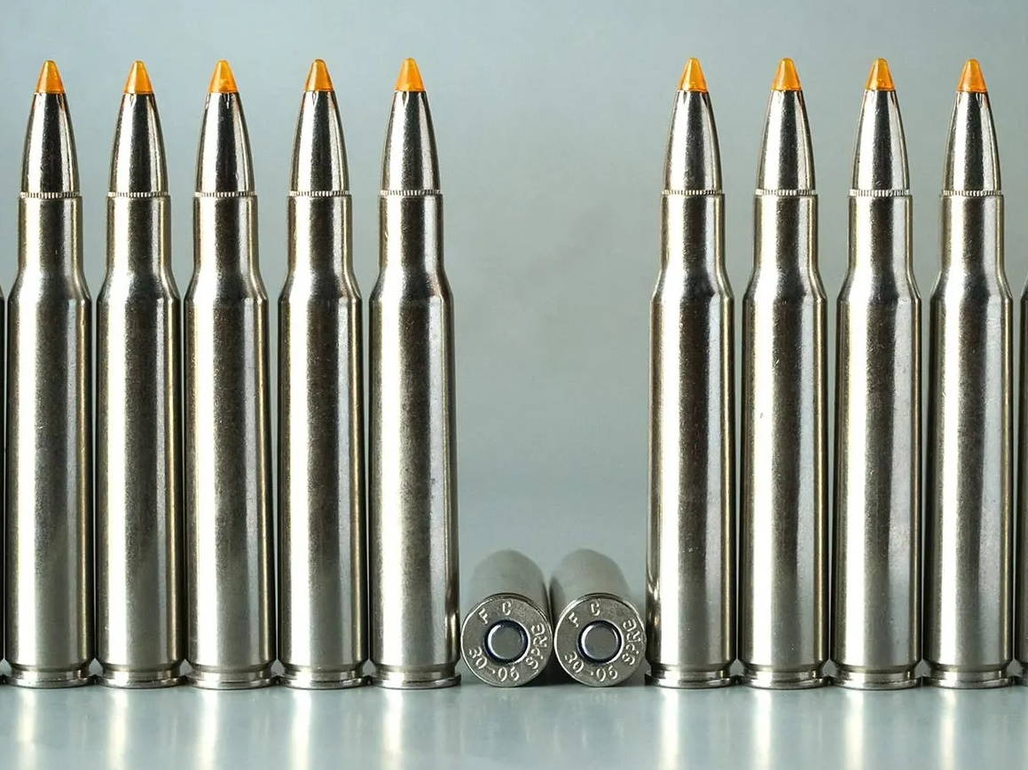 .30/06 rounds loaded with 165-grain Trophy Bonded Tip bullets