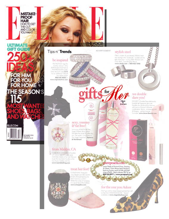 Pure Pearls Featured in Elle Magazine