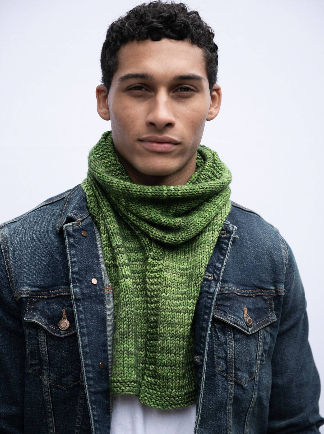 Men's Stockinette Stitch Scarf